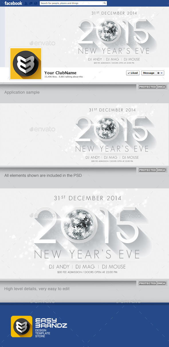2015 New Year's Facebook Timeline - Facebook Timeline Covers Social Media