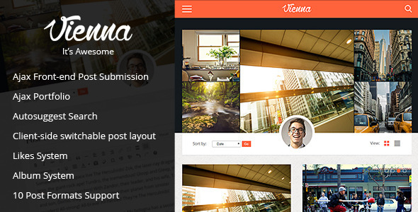 ThemeForest Vienna Content Focused Personal Blog Theme 8760101