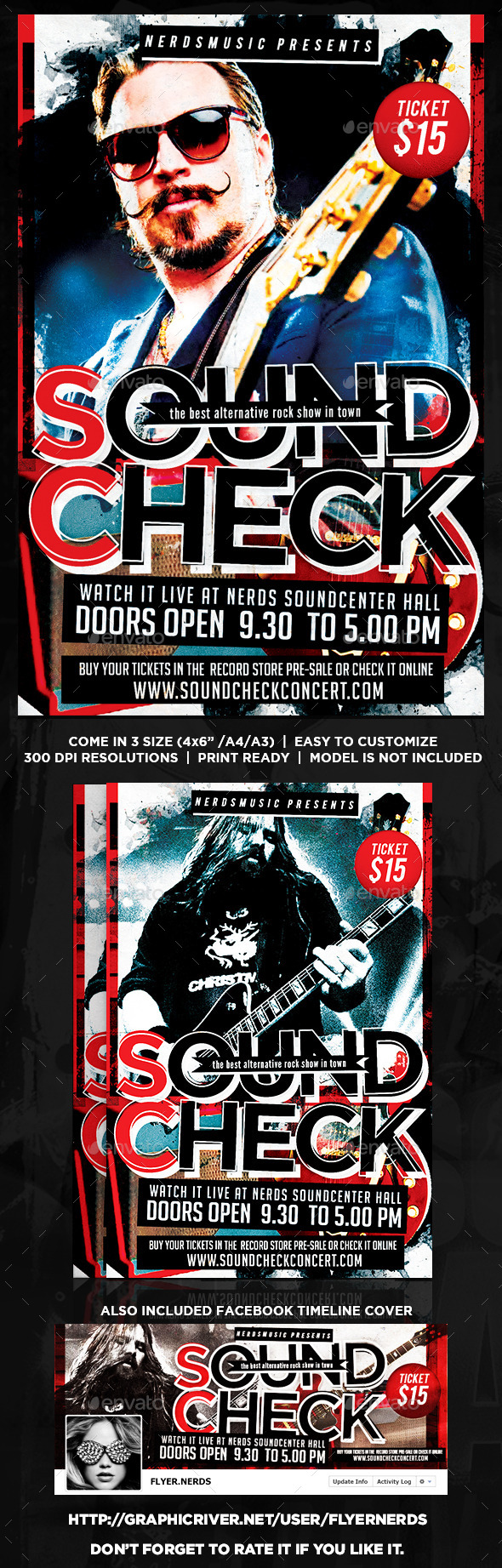GraphicRiver Sound Check Music Flyer 8844255