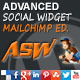 Advanced Social Widget MailChimp Edition - CodeCanyon Item for Sale