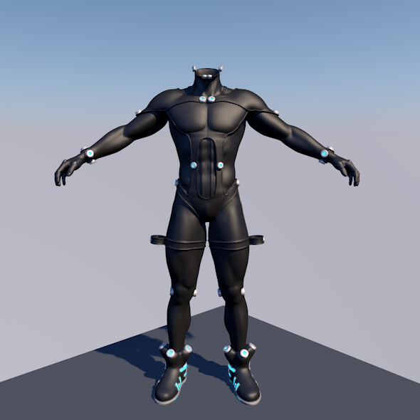 3DOcean GANTZ BODY SUIT 3D MAN 8846159