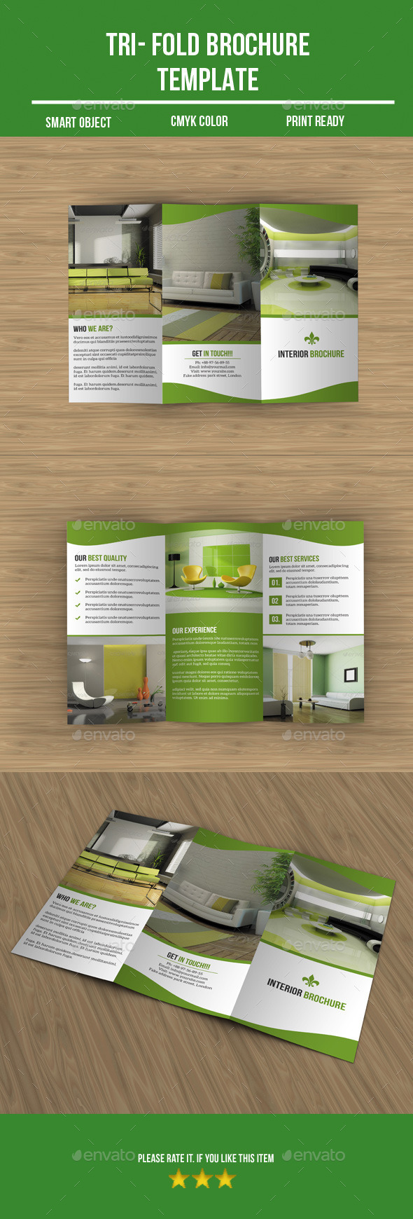 GraphicRiver Interior Tri-Fold Brochure 8846384