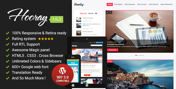 Hooray Premium Wordpress Blog Theme
