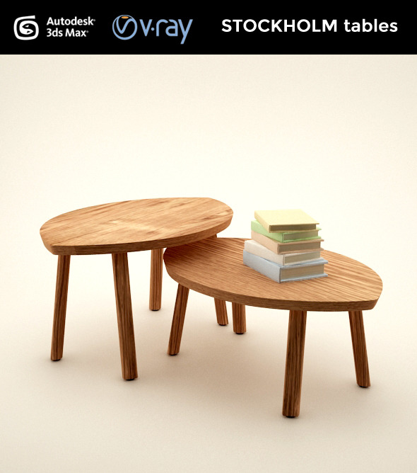 3DOcean STOCKHOLM set of tables 8846540