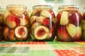 Jars of homemade peach preserves - PhotoDune Item for Sale