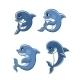 Cartoon Dolphin Calves Set - GraphicRiver Item for Sale