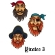 Cartoon Pirates Set - GraphicRiver Item for Sale