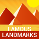 Famous Landmarks Around the World - GraphicRiver Item for Sale