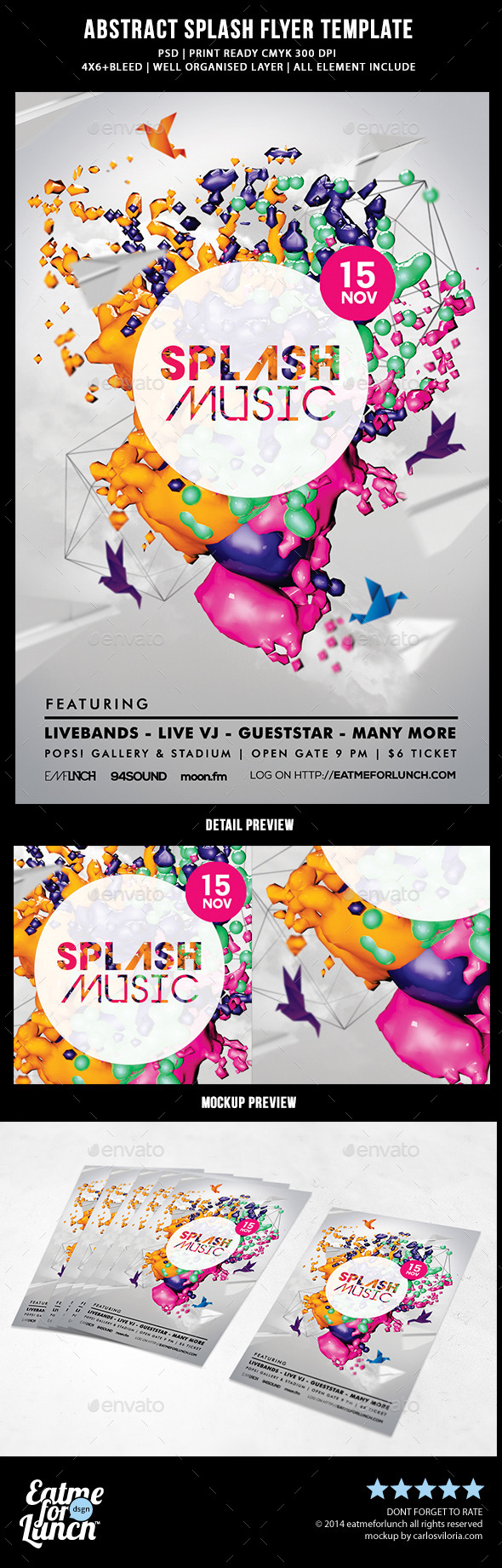 GraphicRiver Abstract Splash Flyer Templates 8847180