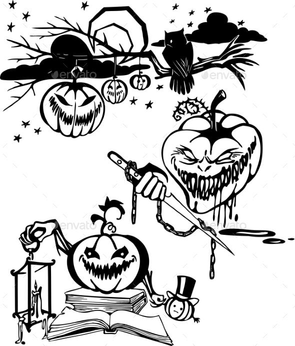GraphicRiver Happy Halloween Set 8847600
