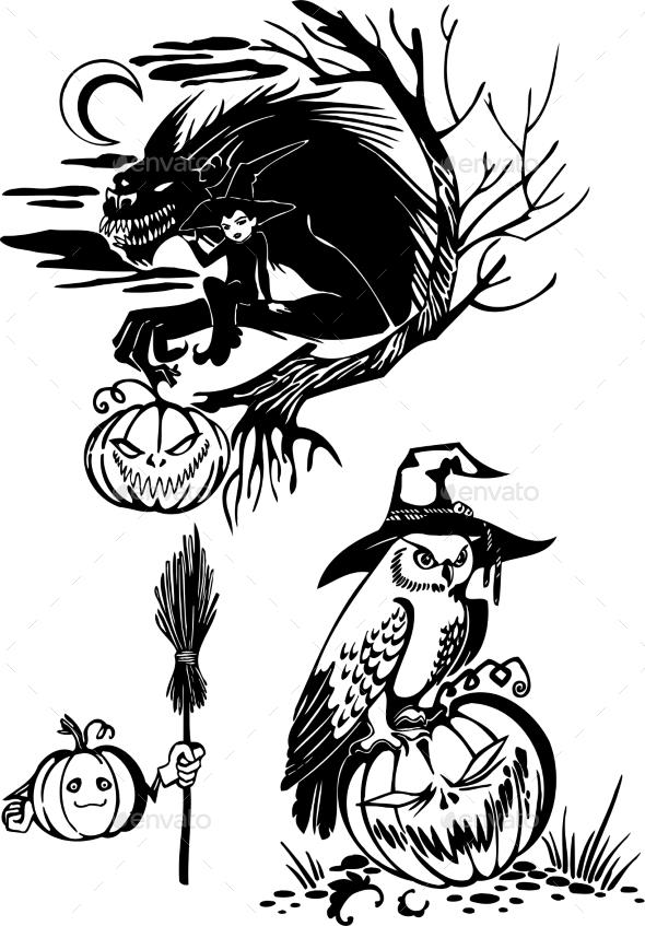 GraphicRiver Happy Halloween Set 8847607