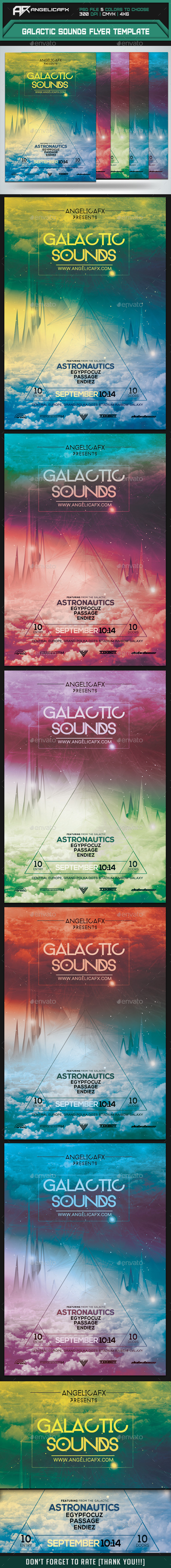 GraphicRiver Galactic Sounds Flyer Template 8847613
