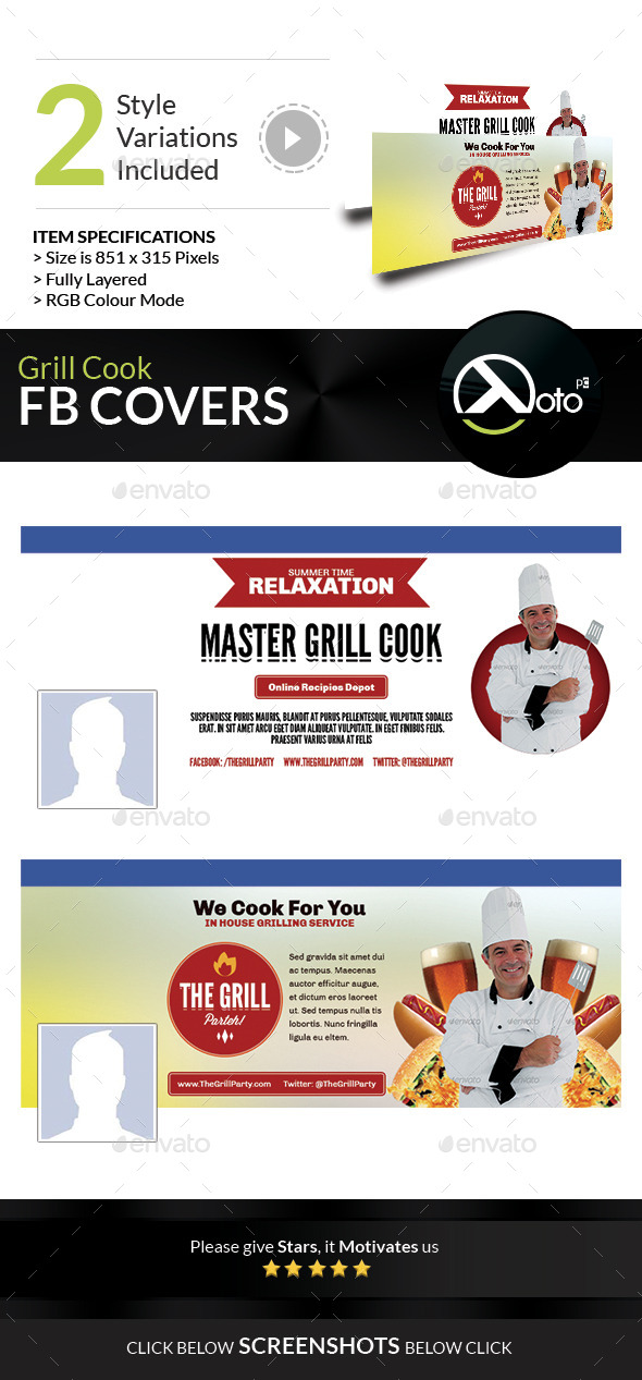 GraphicRiver Grill Cook Outdoor Kebab Party FB Banner 8847660