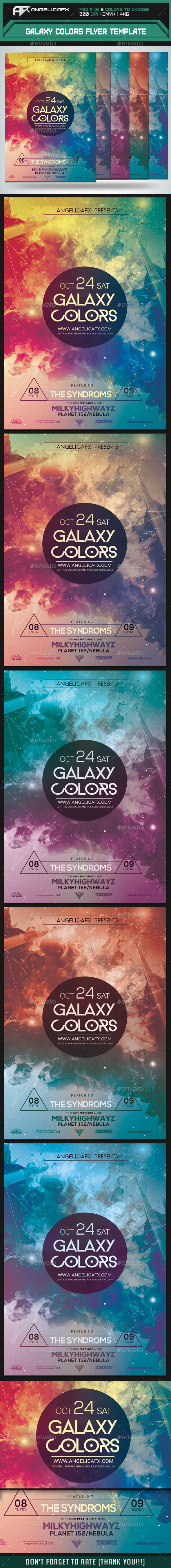 Galaxy Colors Flyer Template