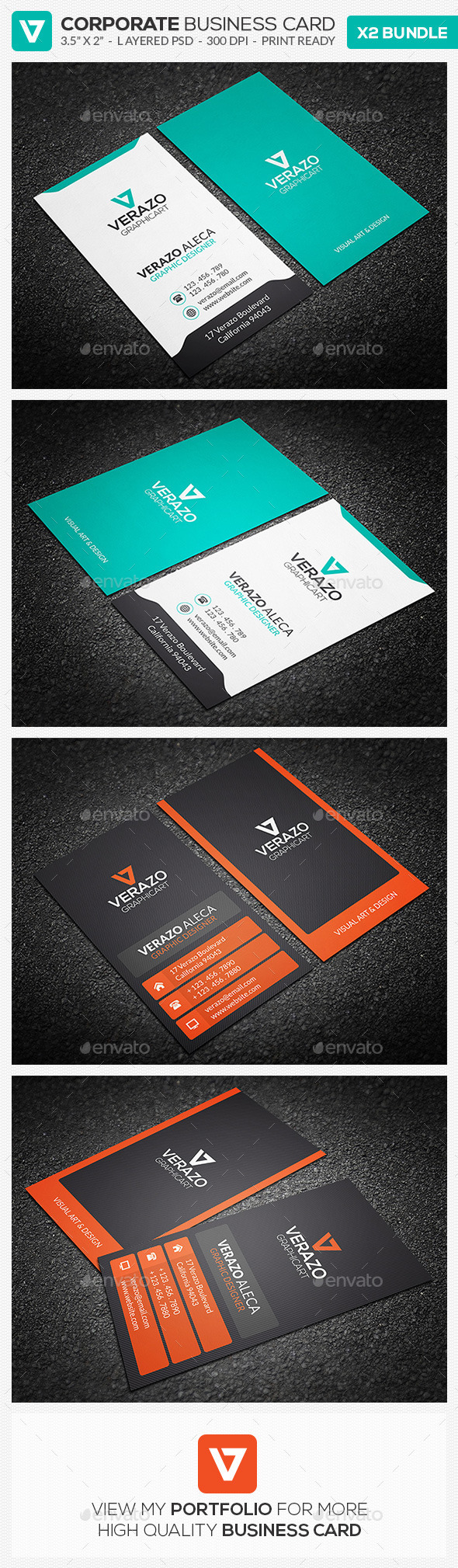 GraphicRiver Business Card Bundle 08 8847948