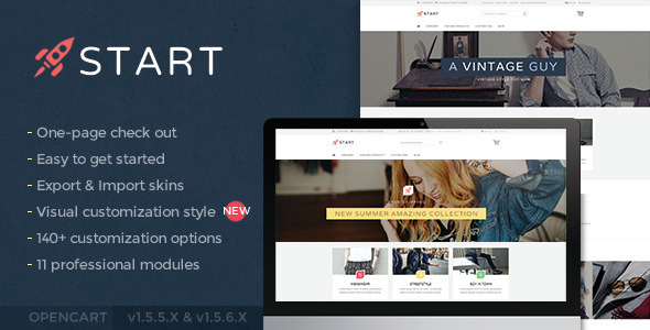 Start – Modern minimalist fashion theme - Fashion OpenCart