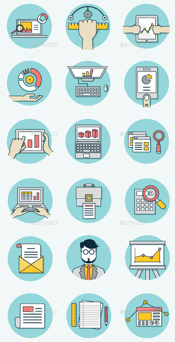 GraphicRiver Analytics Icons for Business 8848020