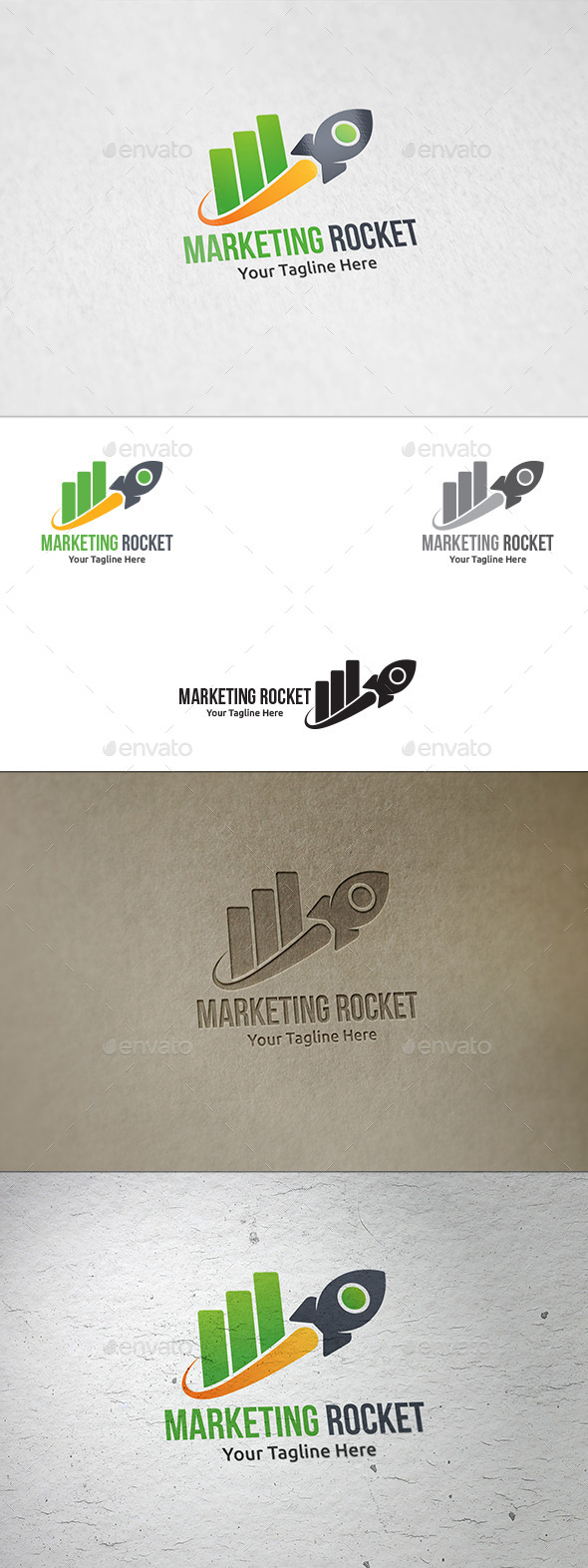 GraphicRiver Marketing Rocket Logo Template 8848094