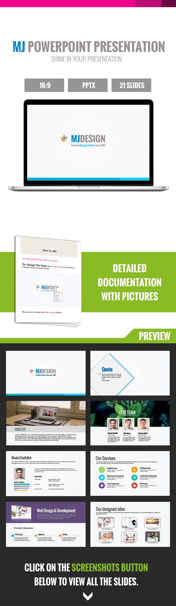 GraphicRiver MJ Creative Powerpoint Presentation 8825744