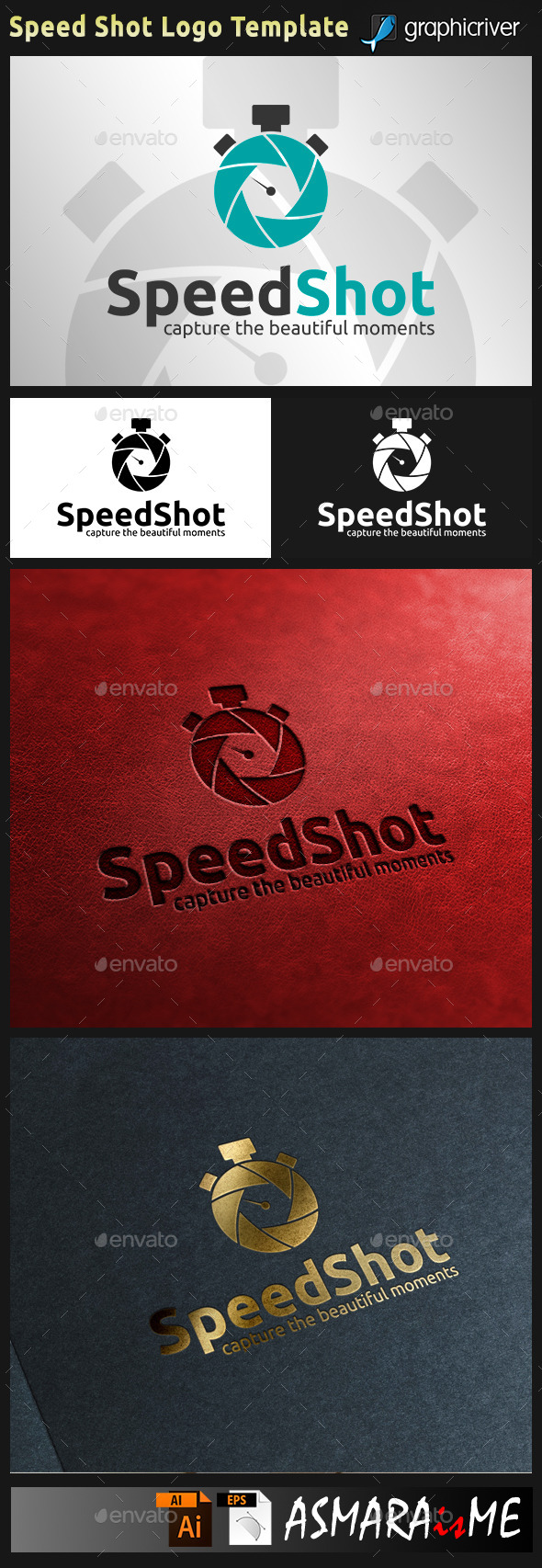 Speed Shot Photography Lens Camera Logo