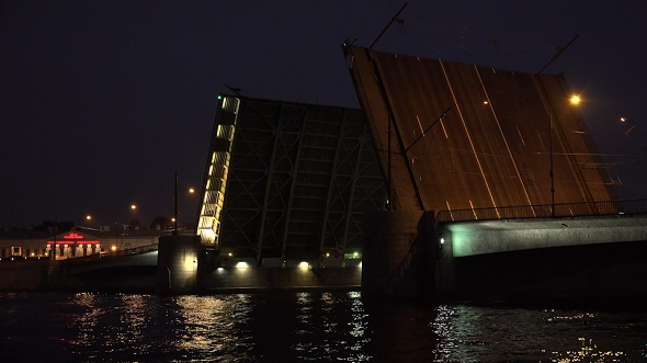 Tuchkov Drawbridge in Saint-Petersburg