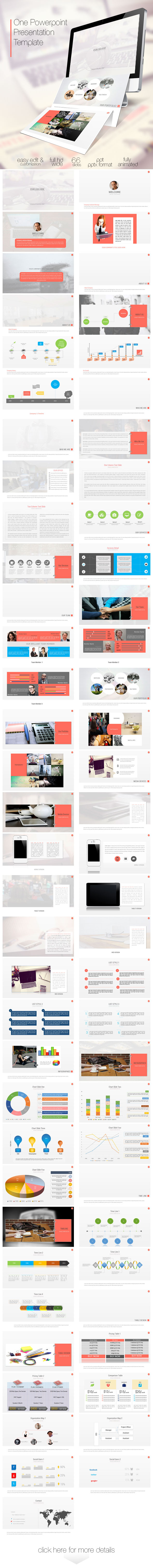 GraphicRiver One Power Point Presentation Template 8782828