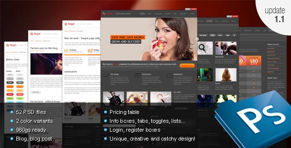 ThemeForest Target Psd template 864002
