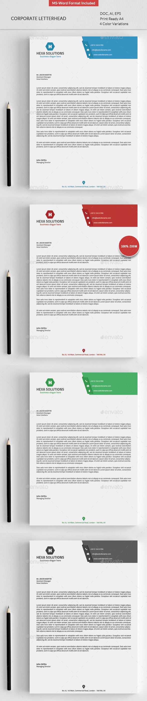 GraphicRiver Letterhead with Ms-Word 8848660