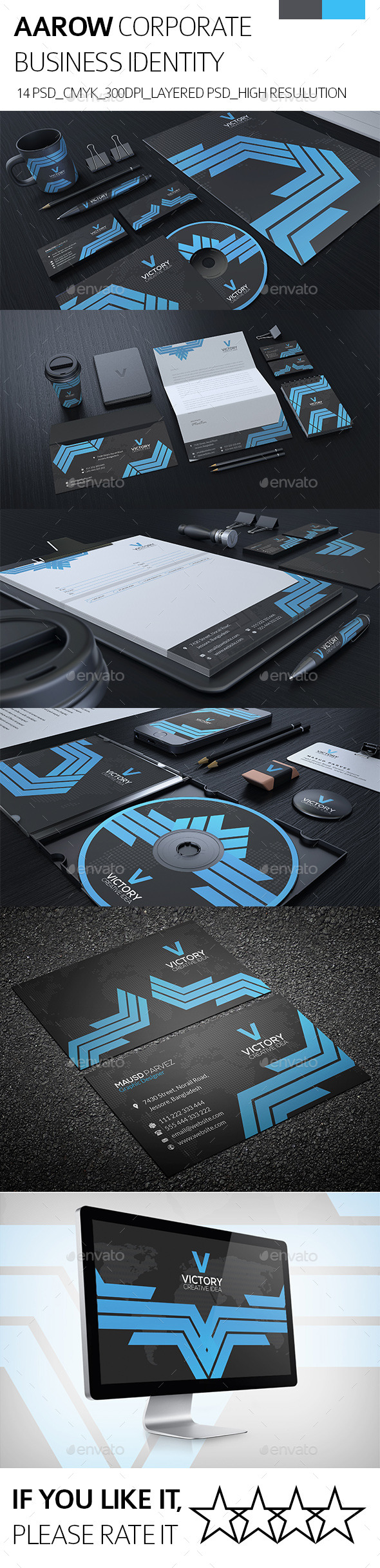 GraphicRiver AAROW CORPORATE IDENTITY 8848664
