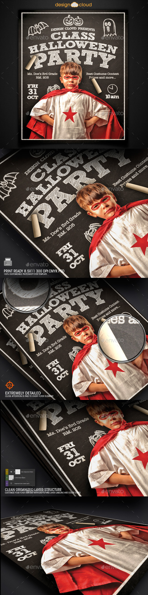 GraphicRiver Kid s Class Halloween Party Flyer Template 8848682