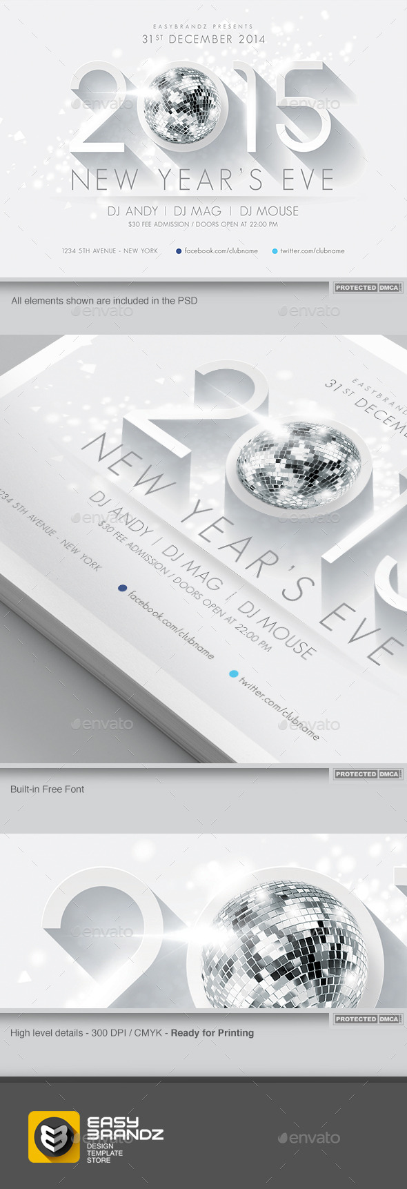 2015 New Year s Flyer Template