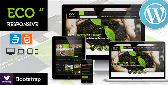 ECO Responsive Environment WordPress Theme