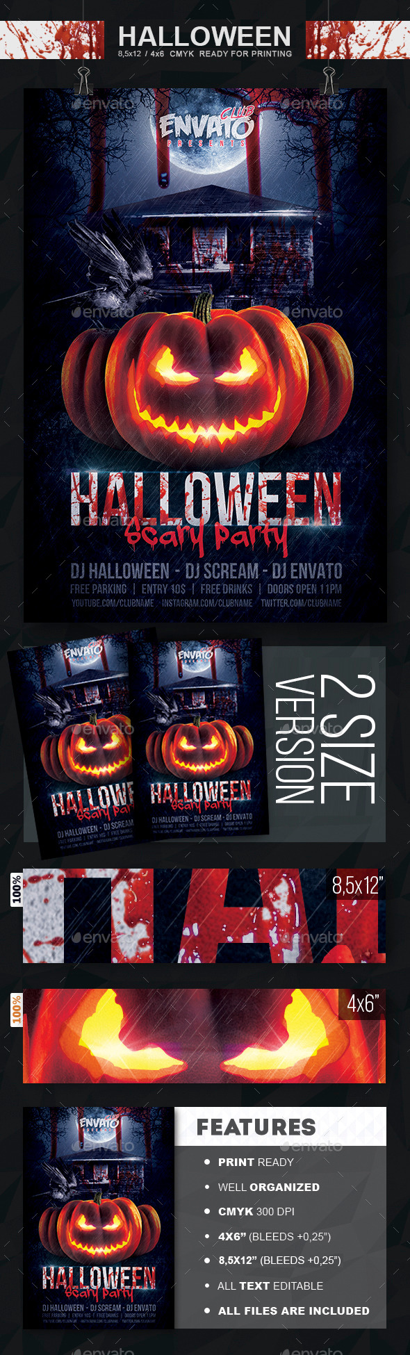 GraphicRiver Halloween Scary Party Flyer 8848753