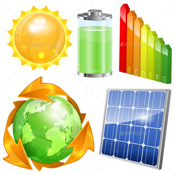 GraphicRiver Green Energy Set 8849221