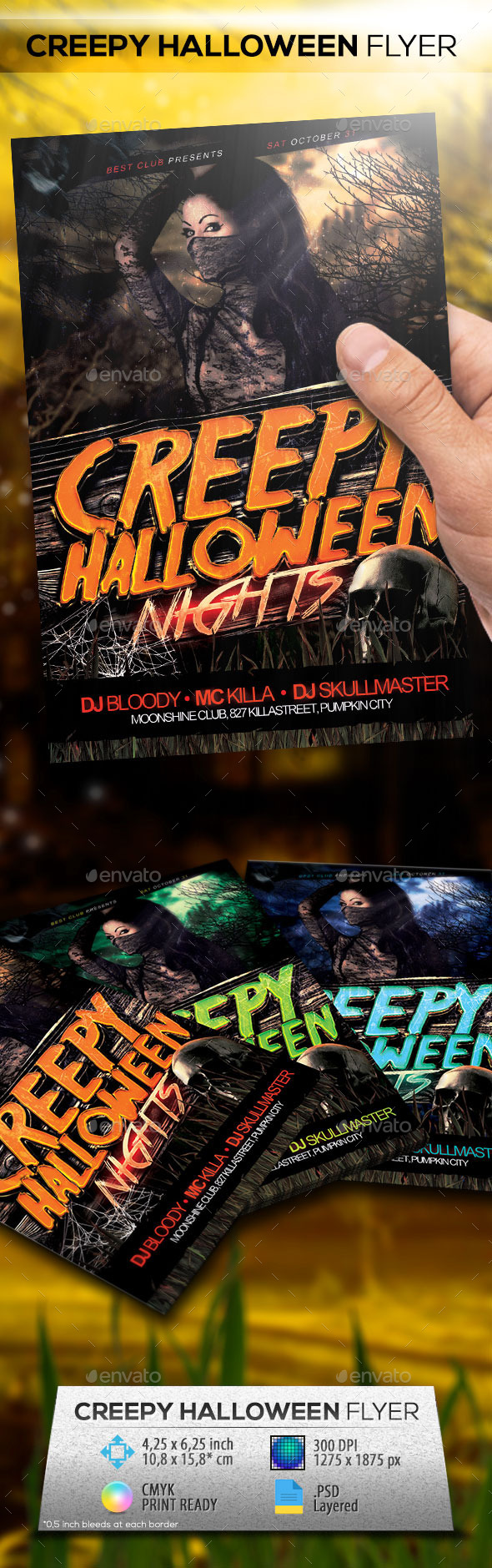 GraphicRiver Creepy Halloween Party Flyer 8842123
