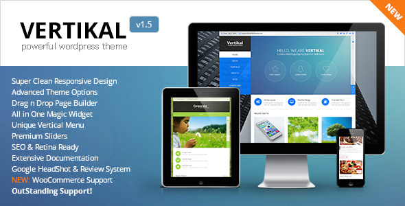 Vertikal | Responsive WordPress Theme - Business Corporate