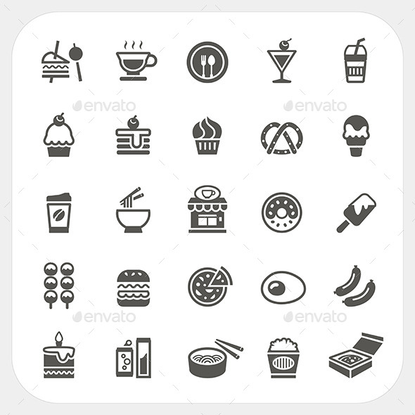 GraphicRiver Food and Beverage Icons Set 8849834