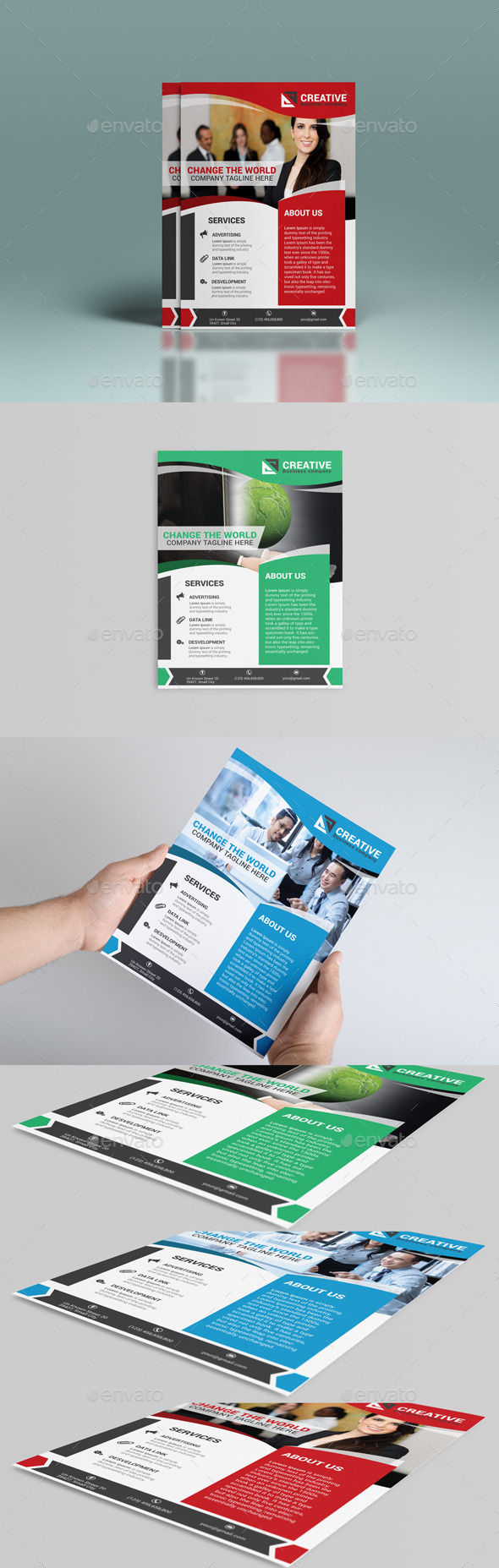 GraphicRiver Corporate Flyer Template 8849937