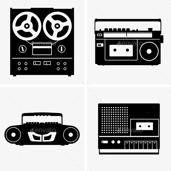 GraphicRiver Tape Recorders 8850020