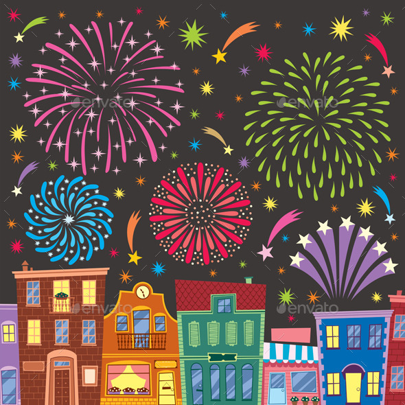 GraphicRiver Fireworks 8850150