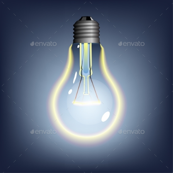 GraphicRiver Glowing Lightbulb 8850323
