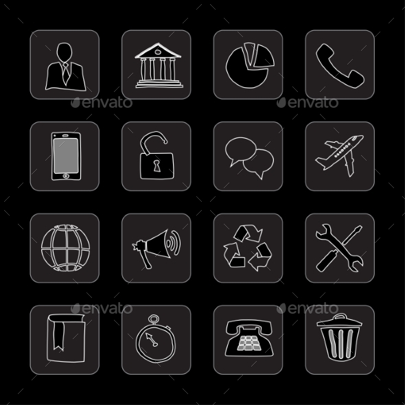 GraphicRiver Hand Drawn Flat Icons 8850328