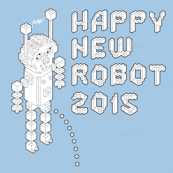 GraphicRiver Happy New Robot 2015 8850335