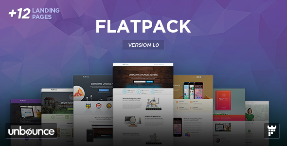 ThemeForest FLATPACK Multipurpose Unbounce Pack 8850389