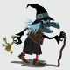 Witch with a Frog Walking by an Owl and Tree - GraphicRiver Item for Sale