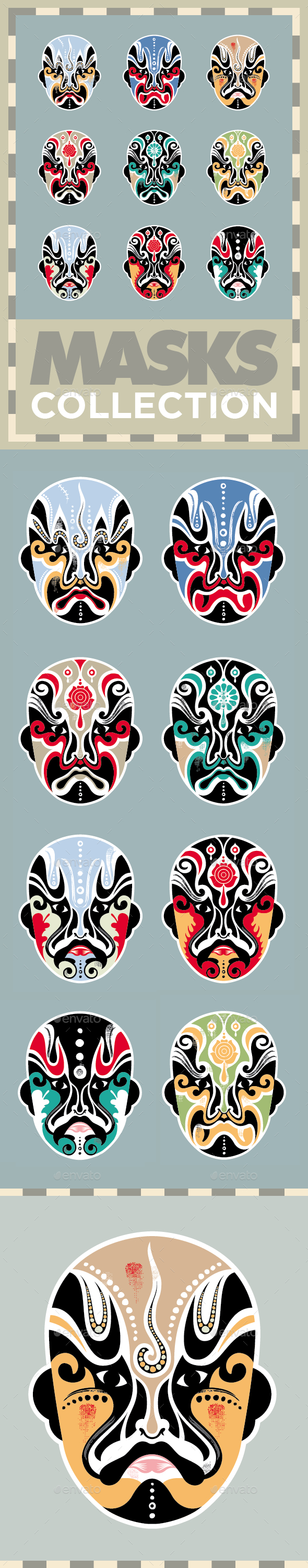 GraphicRiver Masks Collection Vector Set 8850864