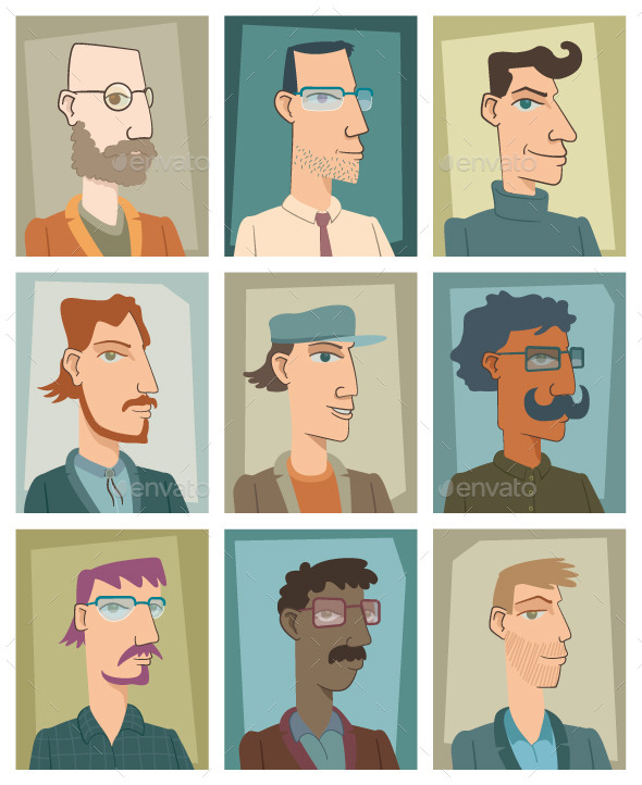 GraphicRiver Nine Young Men 8851111