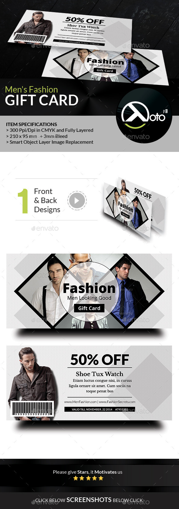 GraphicRiver Men Fashion Style Clothing Gift Vouchers 8851240