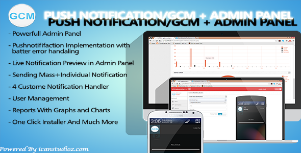 CodeCanyon Push Notification GCM & Admin Panel 8817787