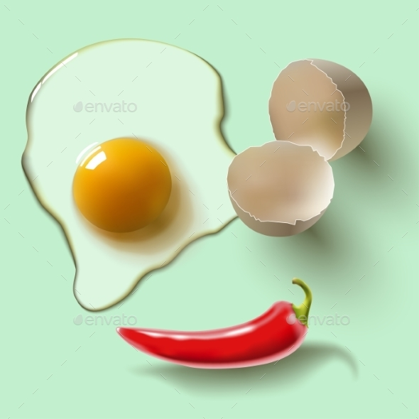 GraphicRiver Raw Egg and Pepper 8851707